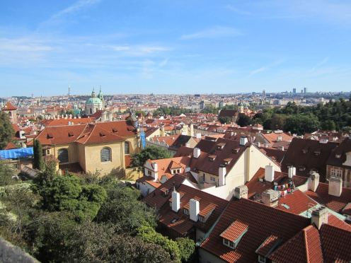 a view of Prague's skyline on my first trip, five years ago