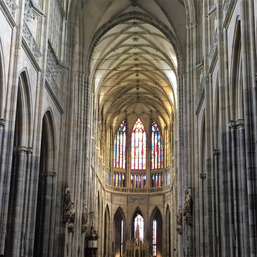 The interior of St. Vitus Cathedral