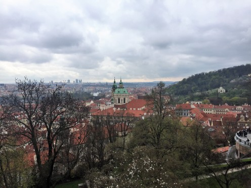 a view of Prague's skyline last week