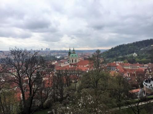 a view of Prague's skyline last week