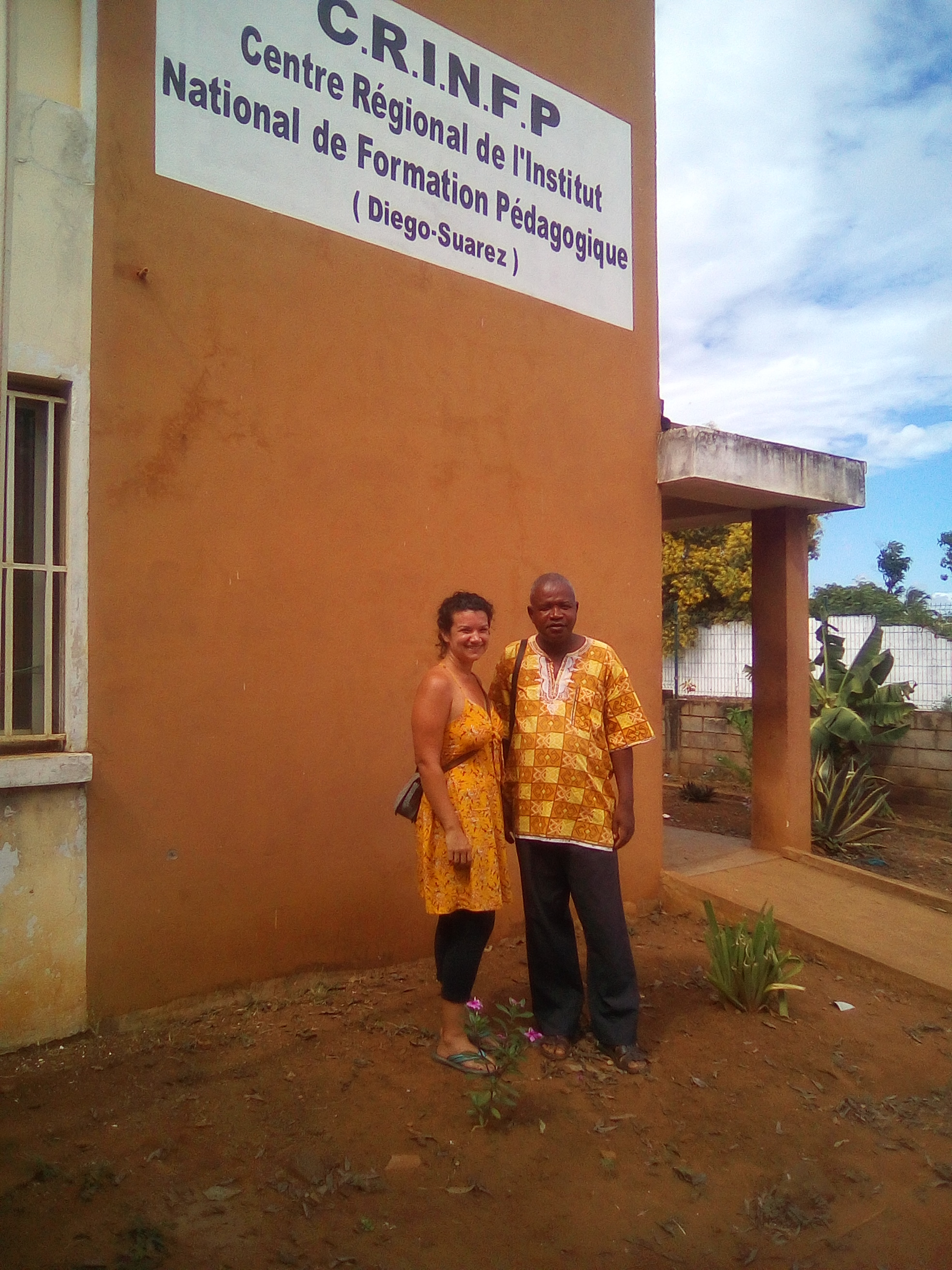 With a colleague at my third year posting, working with a teacher's college in Diego-Suarez, Madagascar